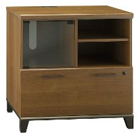 Warm Oak 1-Drawer Lateral File Cabinet - Achieve