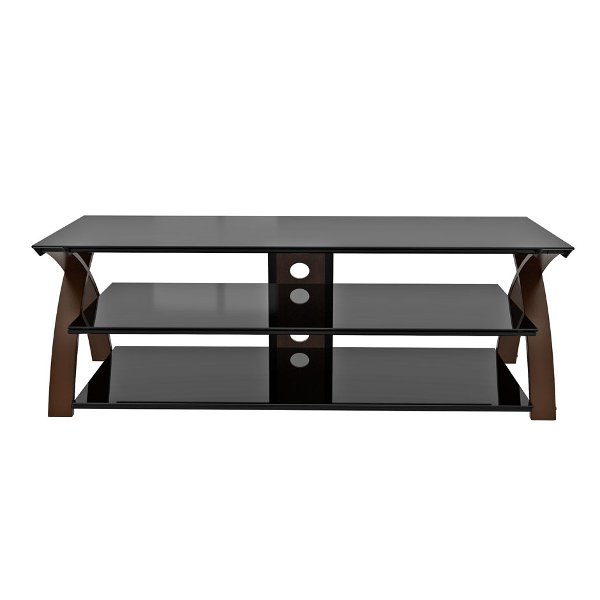 67 Inch Brown And Black Tv Stand Willow