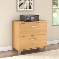 Maple Cross 2 Drawer Lateral File Cabinet - Somerset
