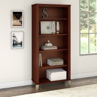 Cherry 5-Shelf Bookcase - Somerset