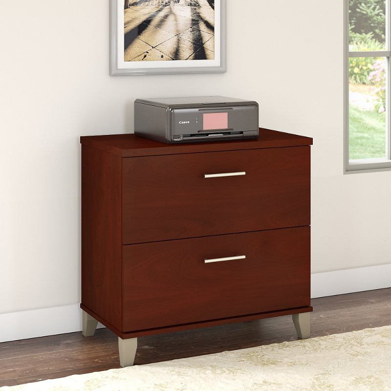 Cherry 2 Drawer Lateral File Cabinet - Somerset