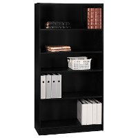 Black 5-Shelf Bookcase - Universal