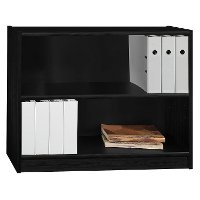 Black 2-Shelf Bookcase - Universal
