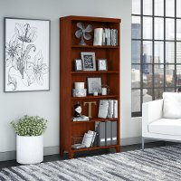 Cherry 5-Shelf Bookcase - Tuxedo
