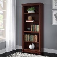 Harvest Cherry 5-Shelf Wood Bookcase - Birmingham