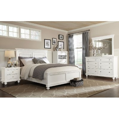 white 6-piece queen bedroom set - essex | rc willey furniture store