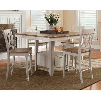White 5 Piece Counter-Height Dining Set - Al Fresco