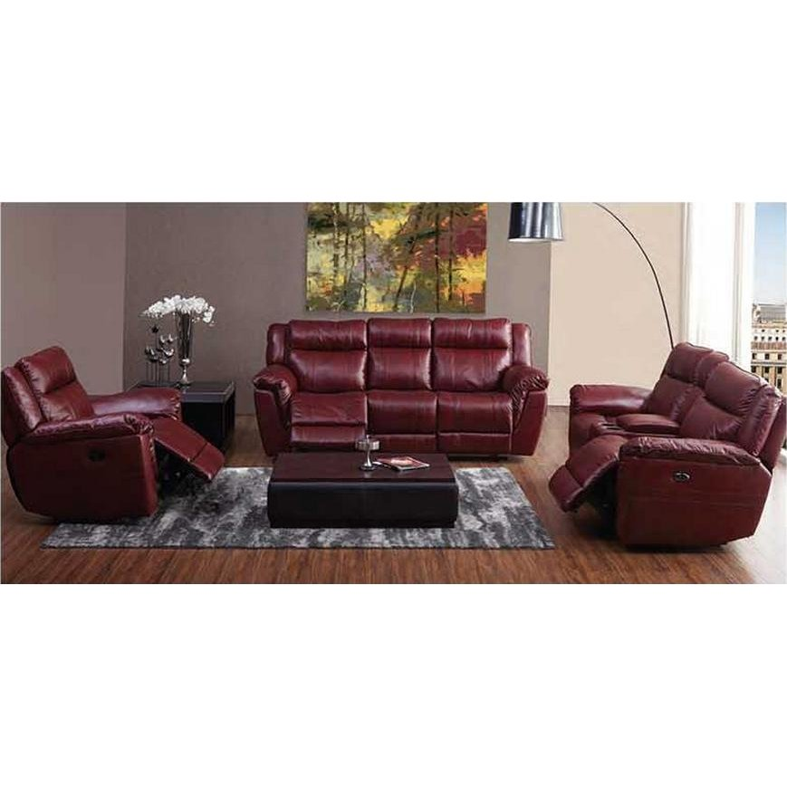 Red Leather Match Dual Manual Reclining Sofa   K Motion | RC Willey  Furniture Store