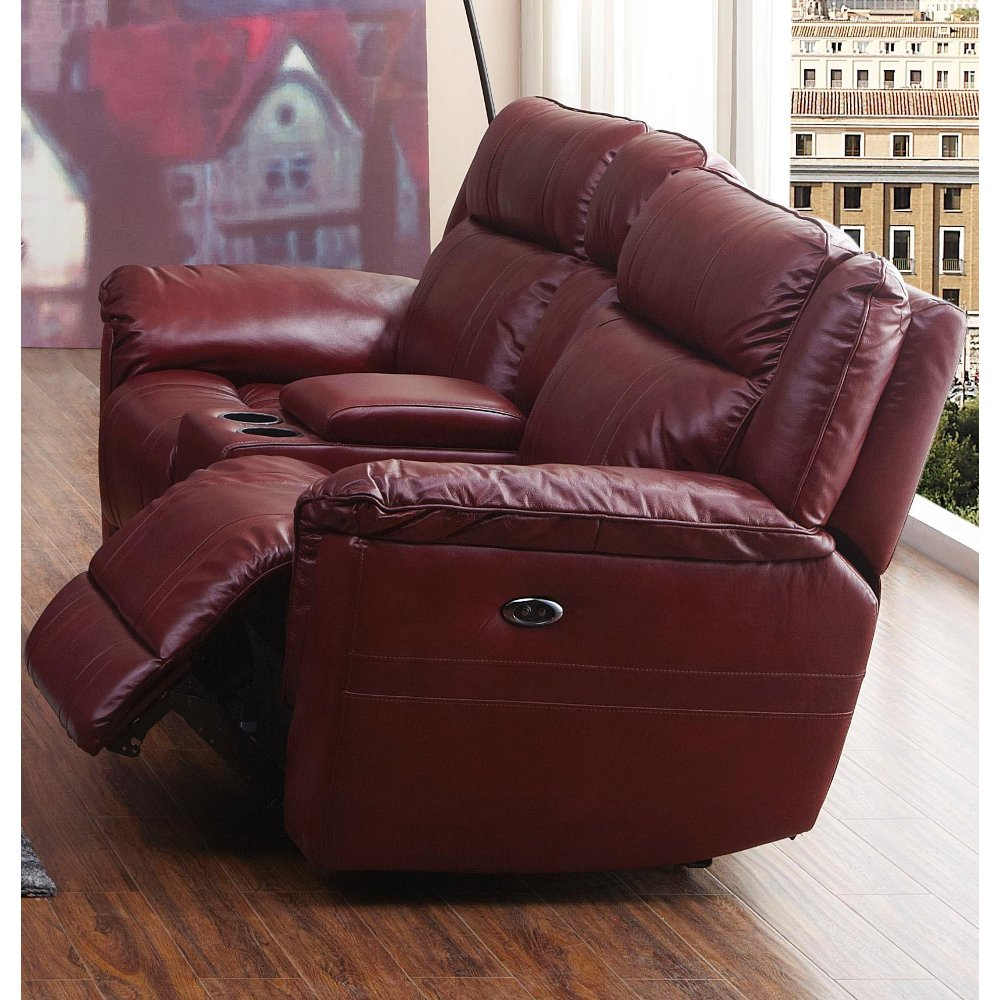 ... Red Leather-Match Dual Reclining Loveseat - K-Motion ... & RC Willey has reclining loveseats for your living room islam-shia.org