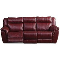Red Leather-Match Manual Reclining Living Room Set - K-Motion