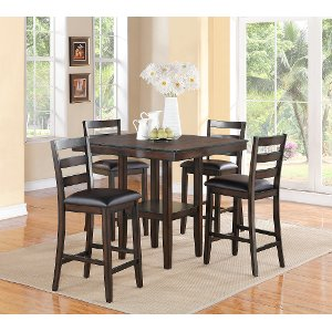 5 Piece Counter Height Dining Set Transitional Tahoe Mango Rc Willey Furniture
