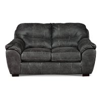 Casual Contemporary Steel Gray Loveseat - Grant