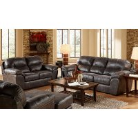 Contemporary Steel Gray 2 Piece Living Room Set - Grant