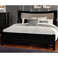 Black King Upholstered Bed - Memphis