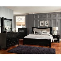 Black 6-Piece King Bedroom Set - Memphis