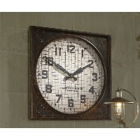 26 Inch Square Caged Clock