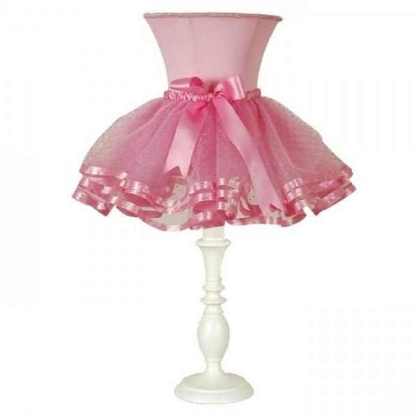 Pure White and Soft Pink Tutu Accent Lamp