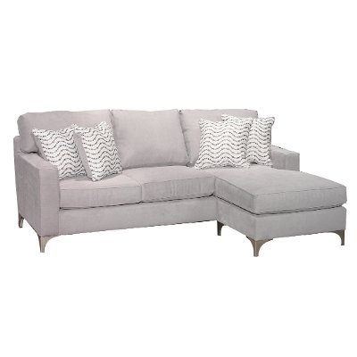 Contemporary Gray Sofa-Chaise - Tessa  sc 1 st  RC Willey : gray sofa with chaise - Sectionals, Sofas & Couches