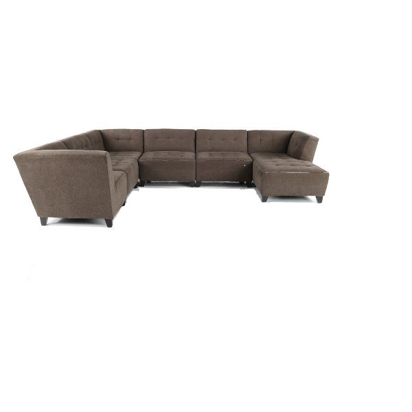 ... Granite Gray Classic Modern 6 Piece Sectional Sofa   Blaire