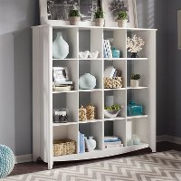 White 4x4 Bookcase - Aero