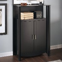 Black 2-Door Medium Library Storage - Aero