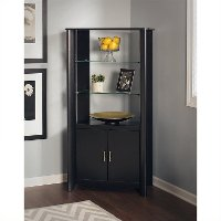 Black 2-Door Tall Library Storage - Aero