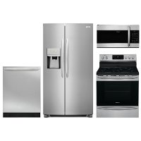 KIT Frigidaire 4 Piece Kitchen Appliance Package with Electric Smoothtop Range - Stainless Steel