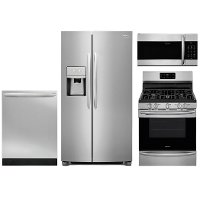 KIT Frigidaire Gallery 4 Piece Kitchen Appliance Package with Gas Range with Convection - Stainless Steel