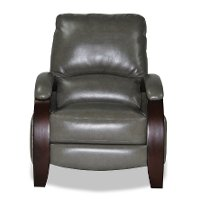 Graphite Gray Performance Fabric Manual Recliner - Naples