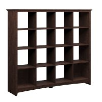 Cherry 16-Cube Storage Bookcase - Buena Vista