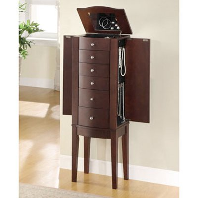 Merlot Jewelry Armoire RC Willey Furniture Store