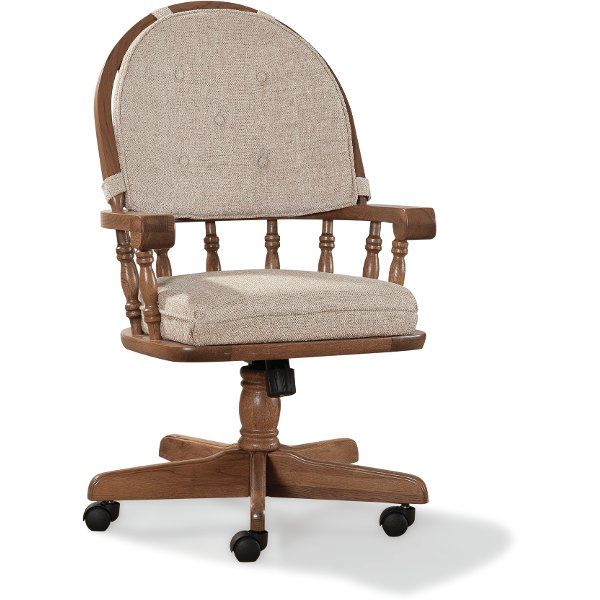 ... Swivel Dining Room Chair   Classic Chestnut