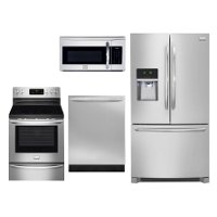 Frigidaire Stainless Steel 4 Piece Kitchen Appliance Package | RC ...