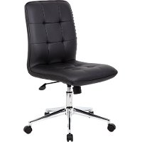 Modern Black Vinyl Office Chair