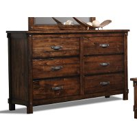 Jessie Rustic Brown 6-Drawer Dresser