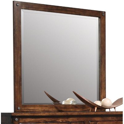 Jessie Rustic Brown Mirror