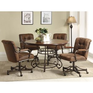 Clearance Bomber 5 Piece Round Dining Set