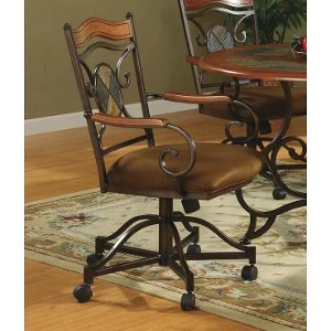 rolling dining chairs. 3 piece bistro dining set with rolling