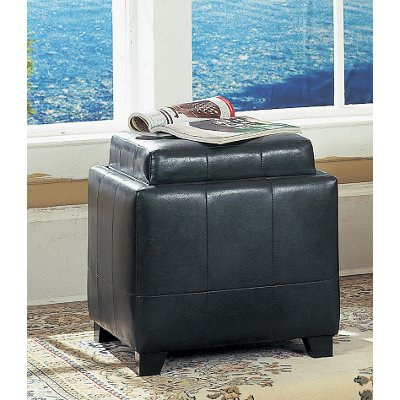 Espresso Storage Ottoman with Tray RC Willey Furniture Store