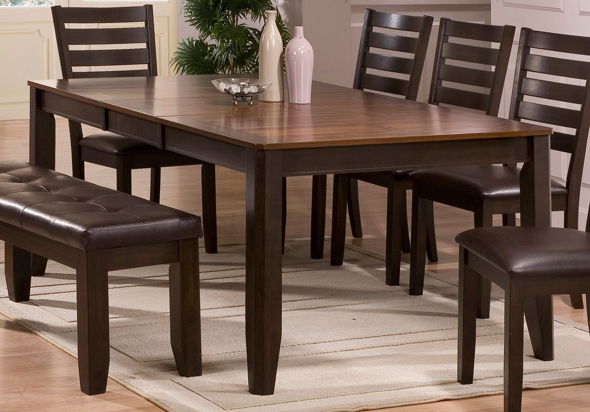 Dining Table - Elliott Brown & 5 Piece Transitional Brown Dining Set - Elliott | RC Willey ...