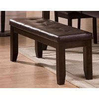 Brown Upholstered Dining Bench - Elliott Collection
