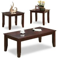 Brown 3 Piece Coffee Table Set - Vincent