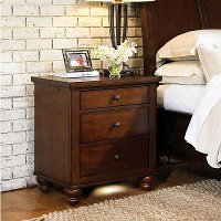 Casual Traditional Brown Cherry Nightstand - Cambridge