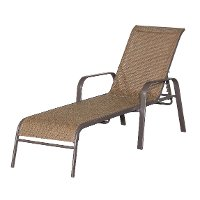 Walnut Brown Chaise Lounge - Mayfield