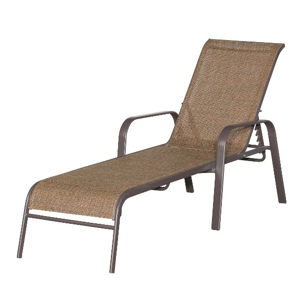 walnut brown chaise lounge mayfield - Chaise Metal