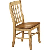Almond and Wheat Slat Back Dining Room Chair - Quails Run Collection
