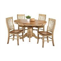 Almond Country 5 Piece Round Dining Set - Quails Run