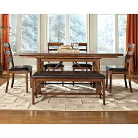 Craftsman Brandy Brown 5 Piece Dining Set - Santa Clara