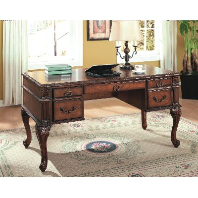 60 Inch Traditional Wood Desk