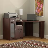 Cherry Corner Home Office Computer Desk - Vantage